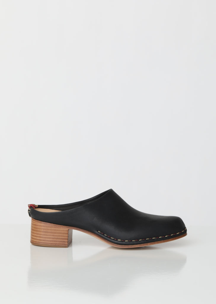 Handmade Mid Heel Leather Mules