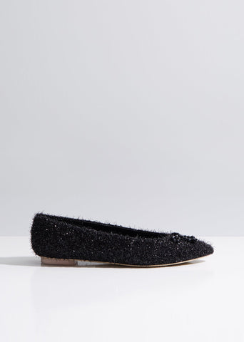 Beaded Bow Tinsel Flats