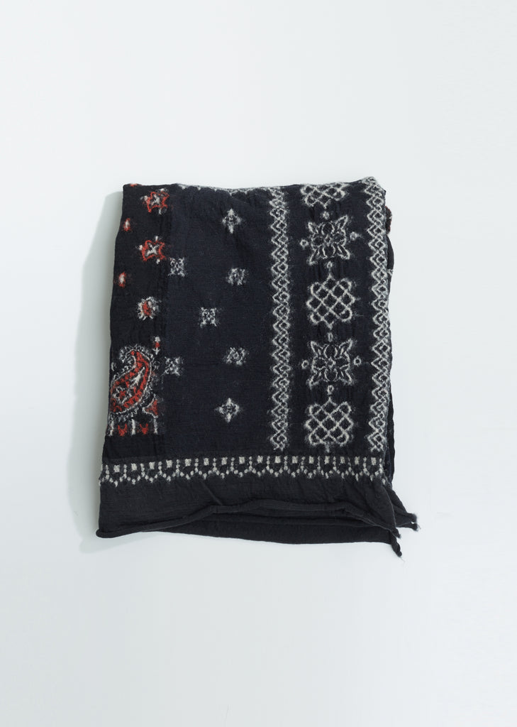 Compressed Wool Bandana Patchwork Scarf