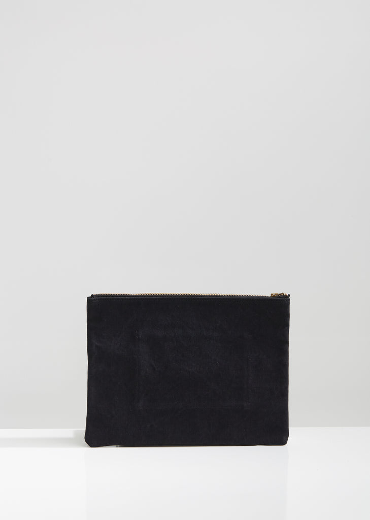 Handmade Washed Canvas Pocket Clutch