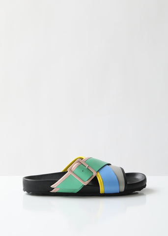 Alpha Beach Colorblock Slides