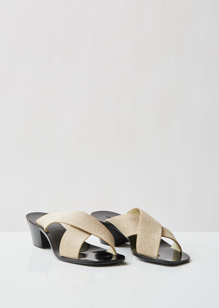 Canvas Cross Strap Sandals