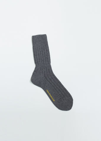 Rib Knit Wool Socks