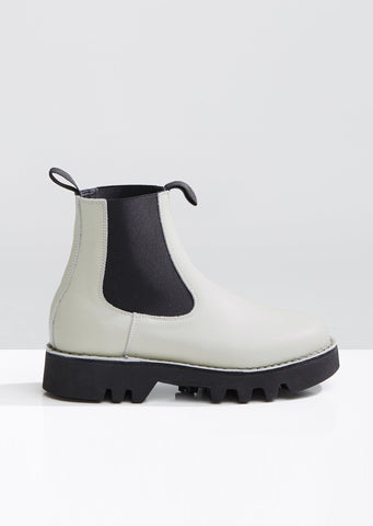 Nappa Leather Slip On Boots