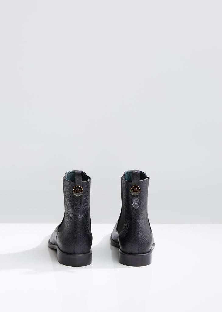 Grained Leather Chelsea Boots