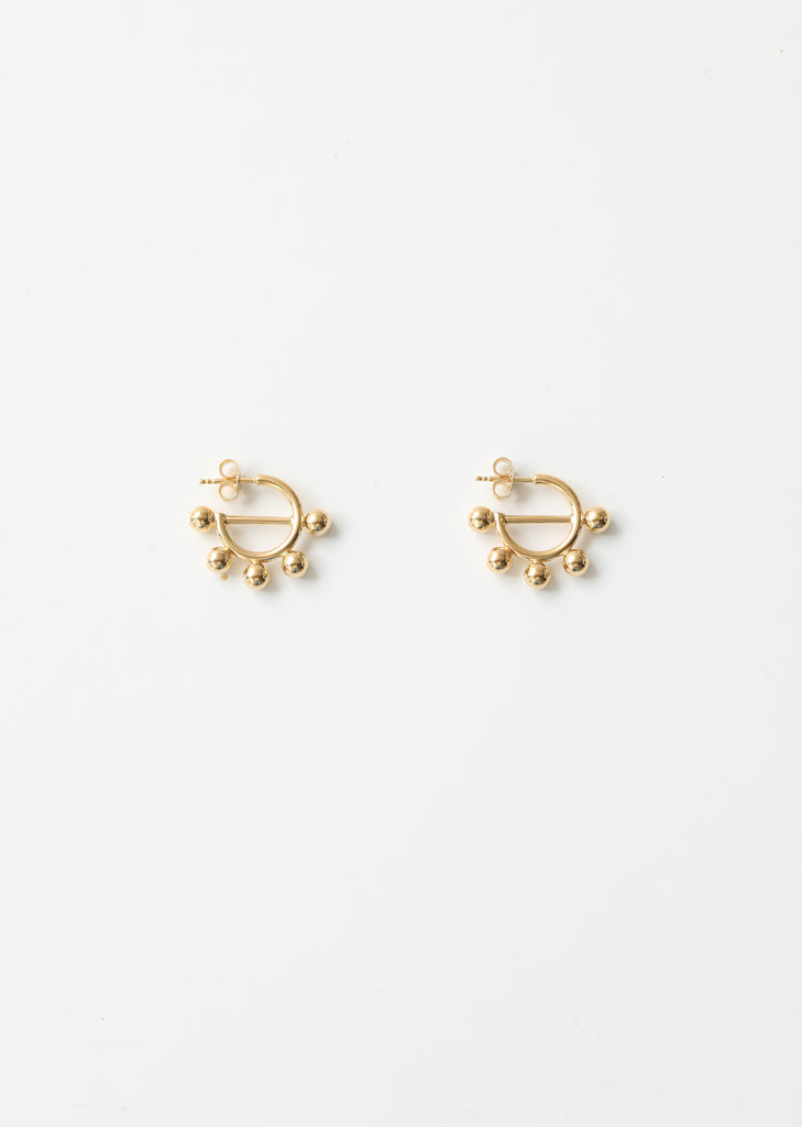 Disc Mini Hoop Earrings