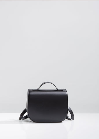 Leather Box Backpack
