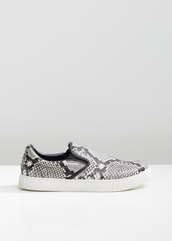 Steer Python Print Slip On Sneakers