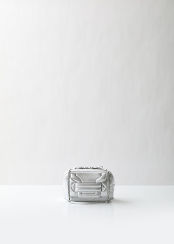 Alpha Pad Metallic Shoulder Bag