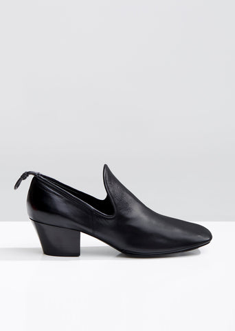 Soft Leather Heeled Loafers