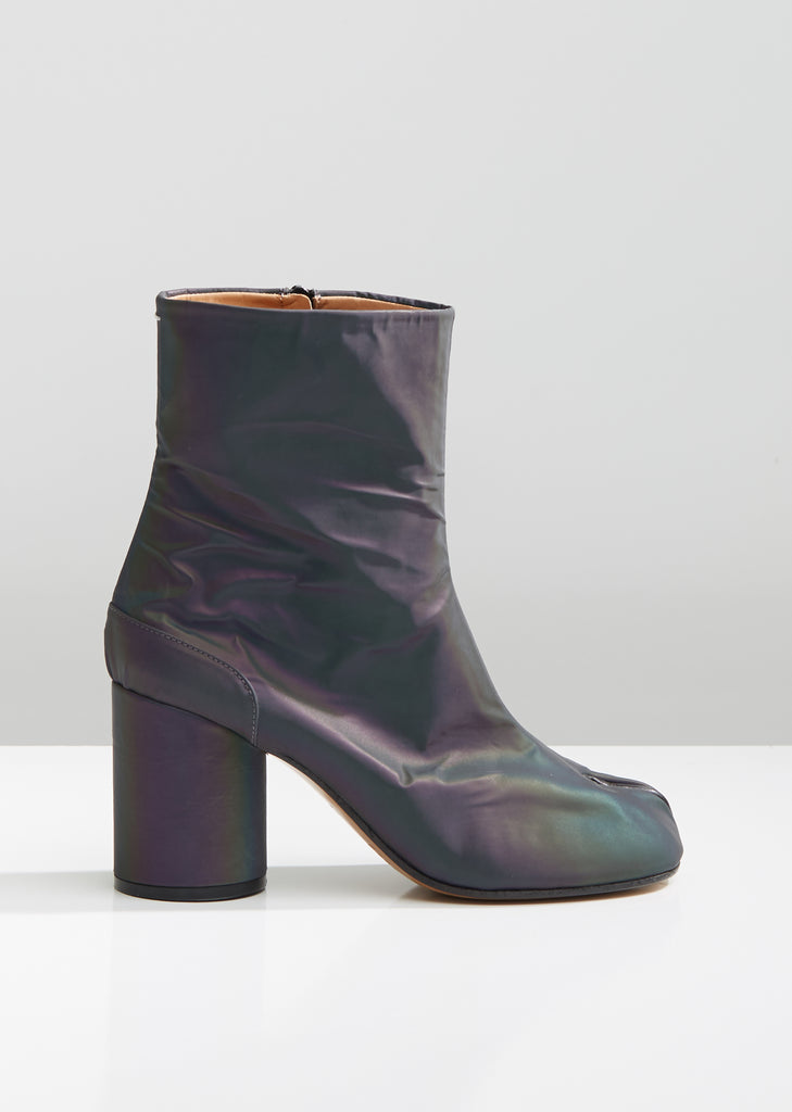 Iridescent Tabi Ankle Boots