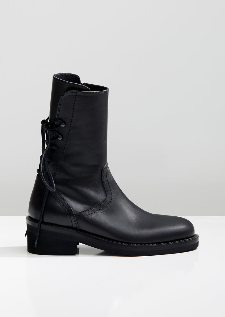 97db9b0be3aea Heeled Leather Ankle Boots by Ann Demeulemeester- La Garçonne