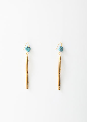 Metal and Resin Rod Earrings