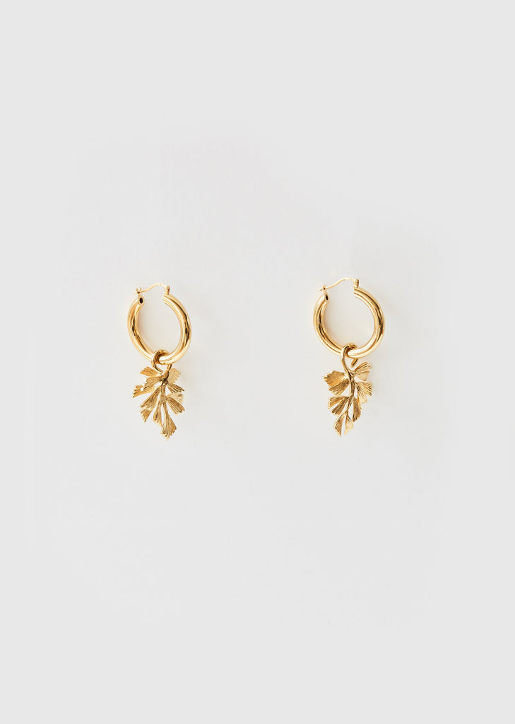 Leaves Hoop Earrings