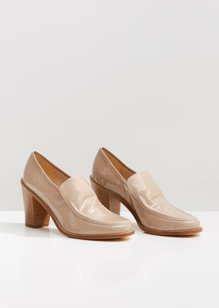 Nora Heeled Leather Loafers