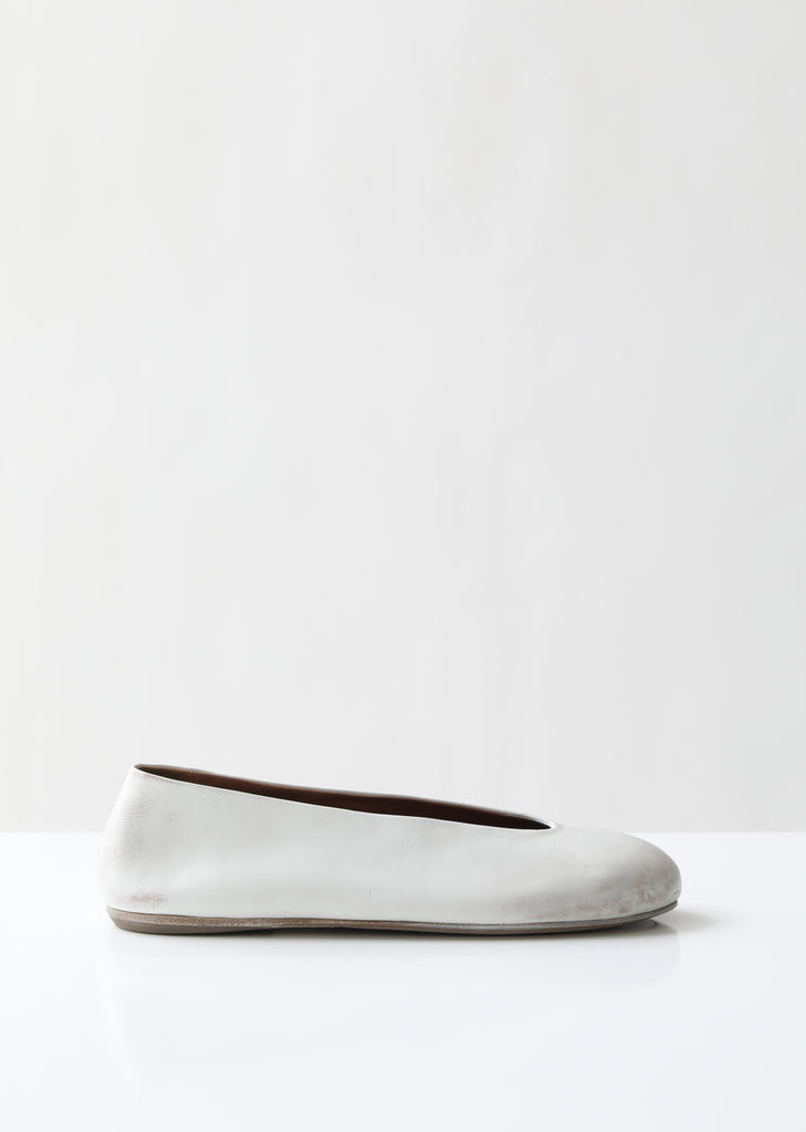 Nespola Distressed Leather Flats