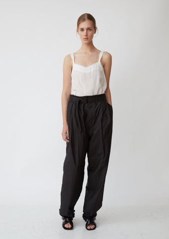 Woven Suiting Pleated Pants