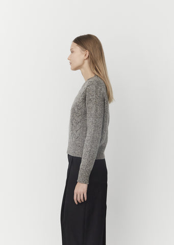 Cable Sweatshirt — Mid Grey