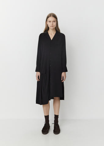 Gather Skirt Shirt Dress