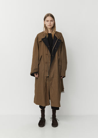Crinkle Cotton Trenchcoat