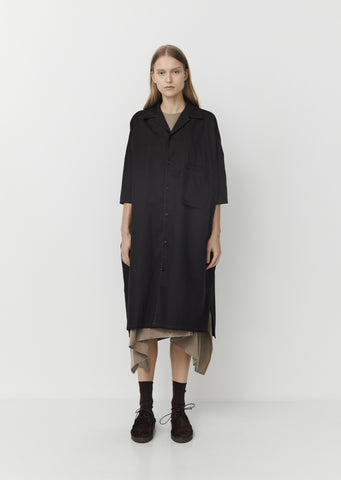 Cotton Chino Shirt Dress