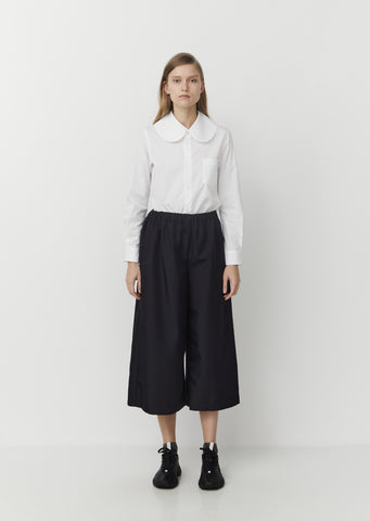 Gabardine Wide Leg Trousers