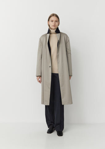 Reversible Wool Cashmere  & Cotton Pure Coat