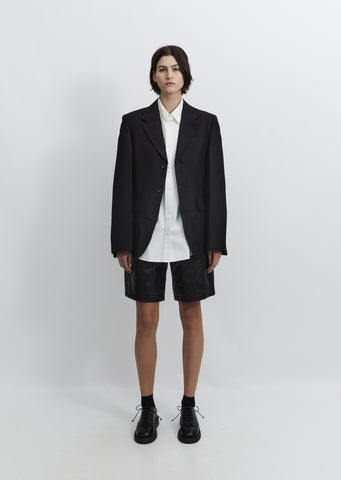 Wool Single-Breasted Jacket