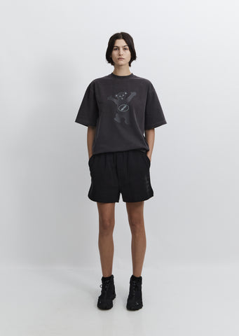 Iridescent Logo Shorts — Black