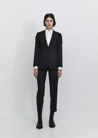 Vanessa Fresco Wool Blazer — Black