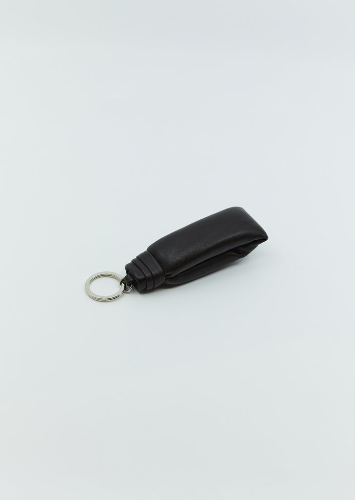 Wadded Key Holder — Dark Chocolate
