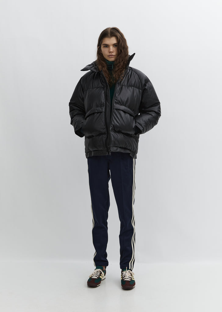 Leather Puffer