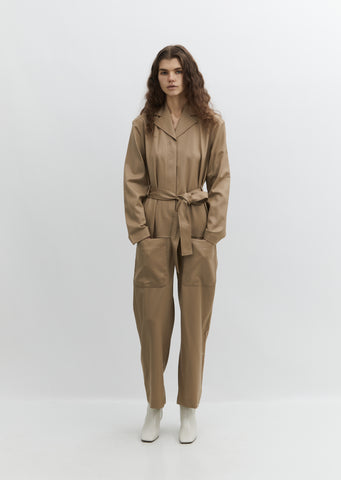 Wool Pocket Jumpsuit