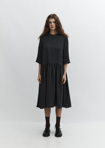 Round Collar Cupro Dress