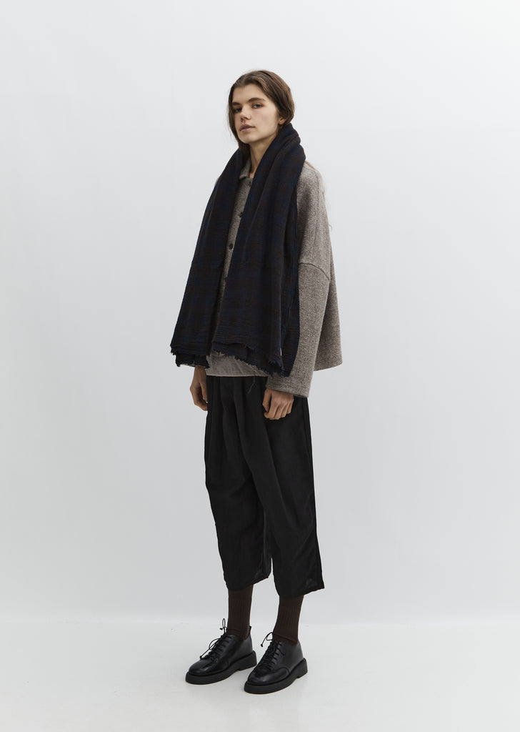 Cashmere Scarf — Blue Brown