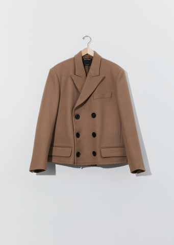 Wool Cut-Off Coat