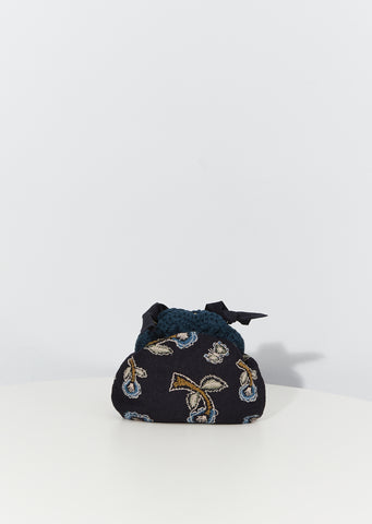 Yume Embroidered Bag — Navy
