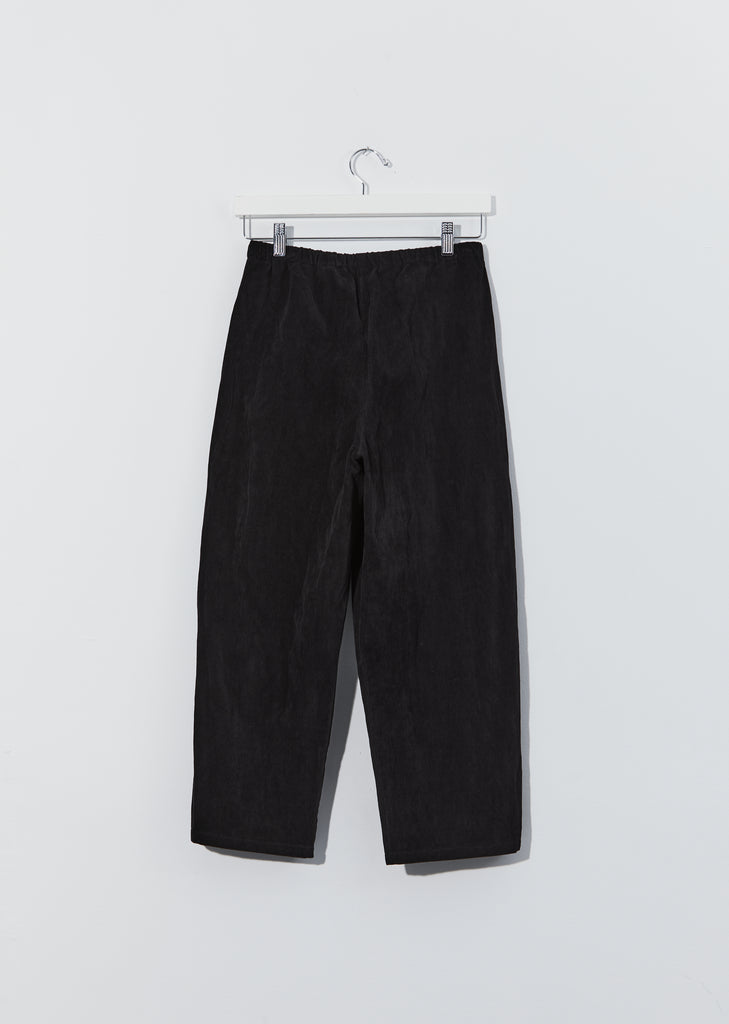Cotton Pullon Trousers — Black