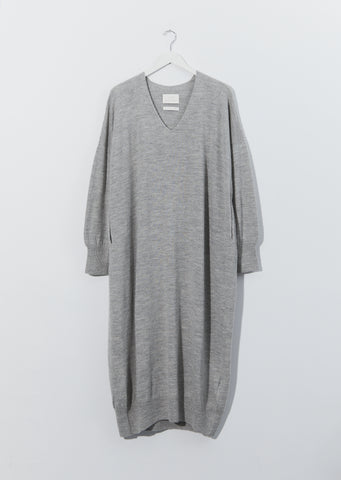 Baby Alpaca & Wool Wide V-Neck Dress