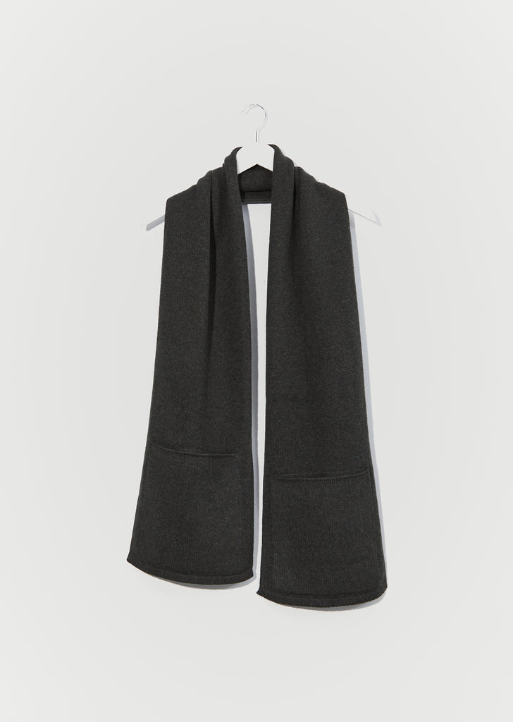 Lambswool Pocket Scarf — Khaki