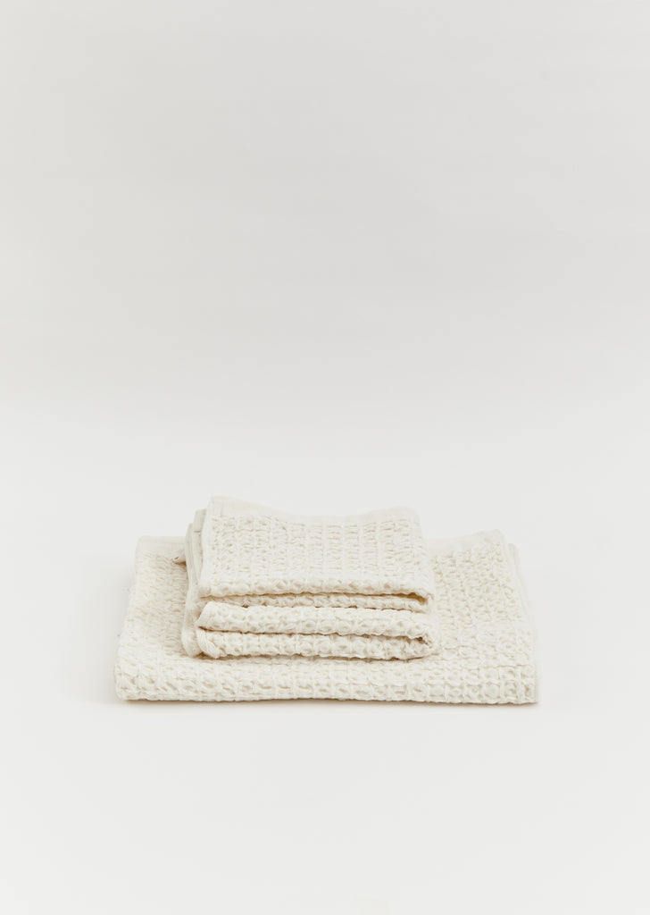 Lattice Linen Washcloth