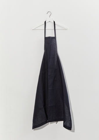 Linen Full Apron — Navy