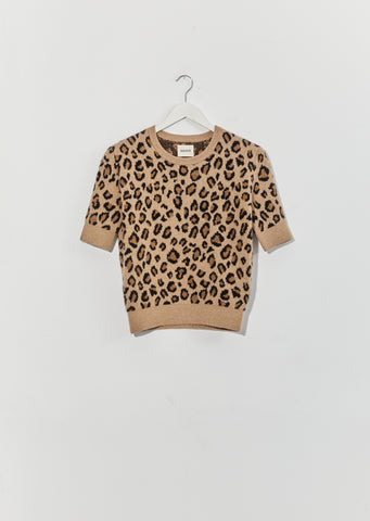 Dianna Jacquard Sweater — Cheetah