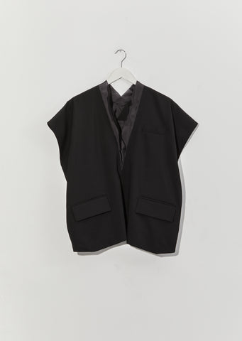 Suiting Pullover — Black