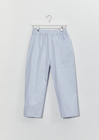 Punch Cotton Twill Pants — Ice