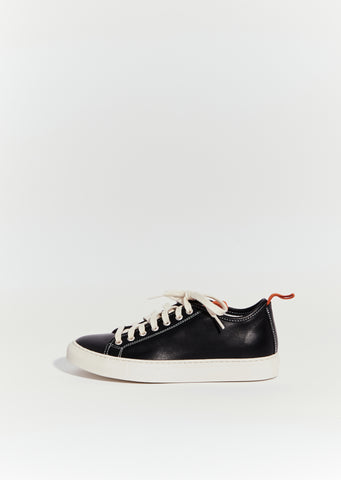 Fast Leather Sneakers — Black