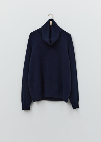 Cashmere Boyfriend High Neck Sweater