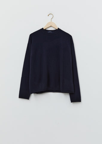 Munch Cashmere Crewneck Sweater — Dark Navy