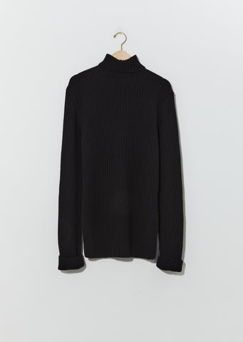 Irek Knitted Turtleneck — Black