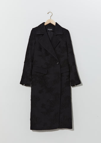 Wool & Cotton Embroidered Coat